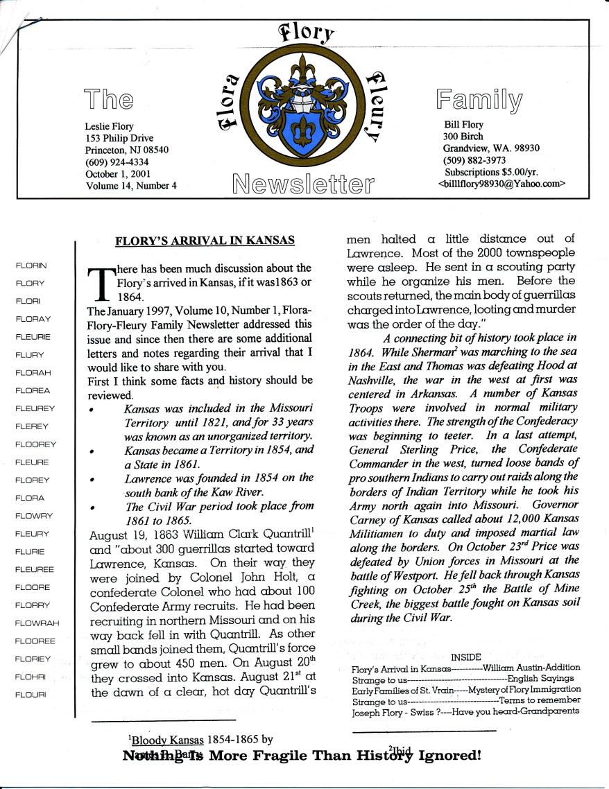FFF Newsletter  Vol 14, No. 4  October 2001_0001
