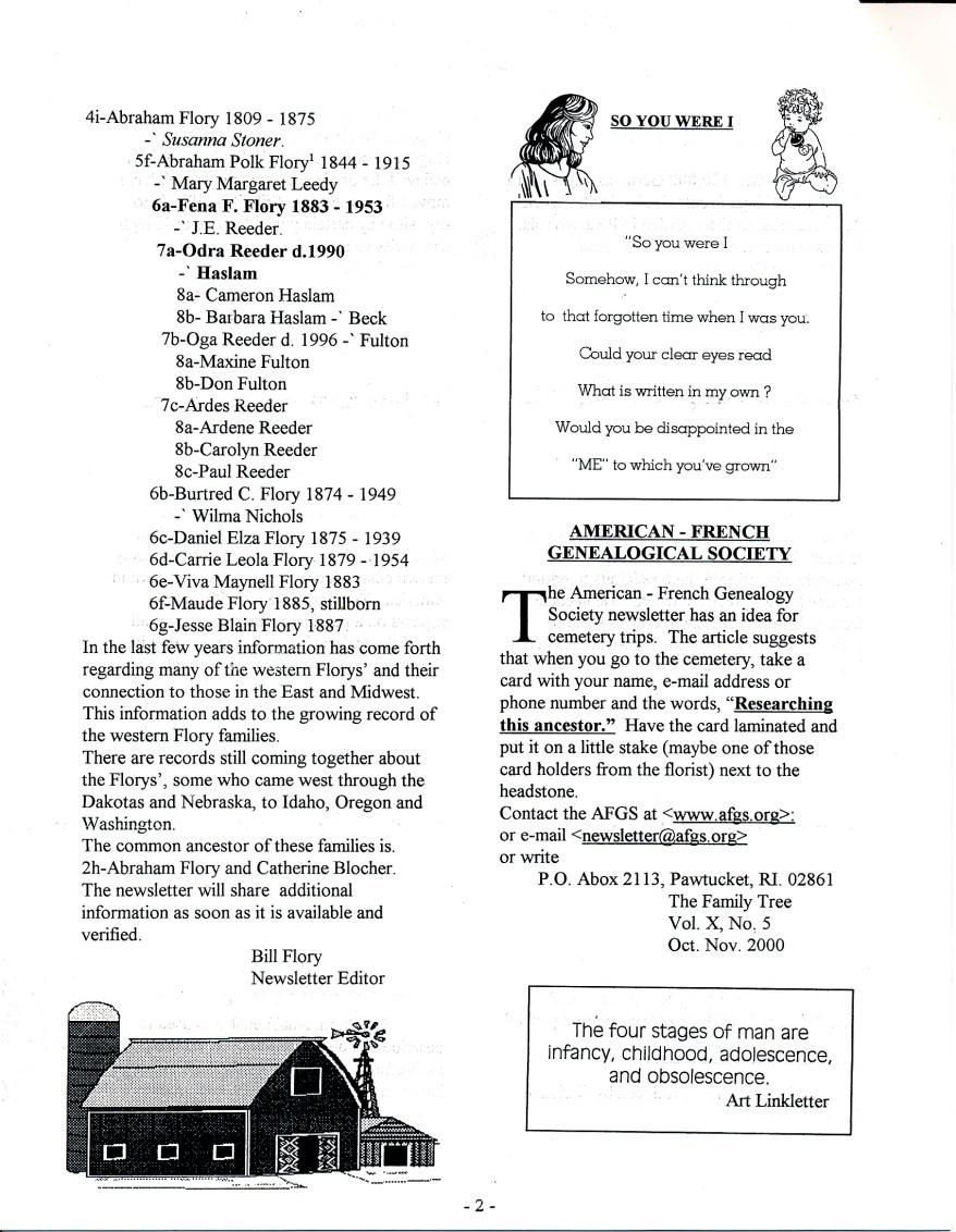 FFF Newsletter  Vol 15, No. 1  January 2002_0002