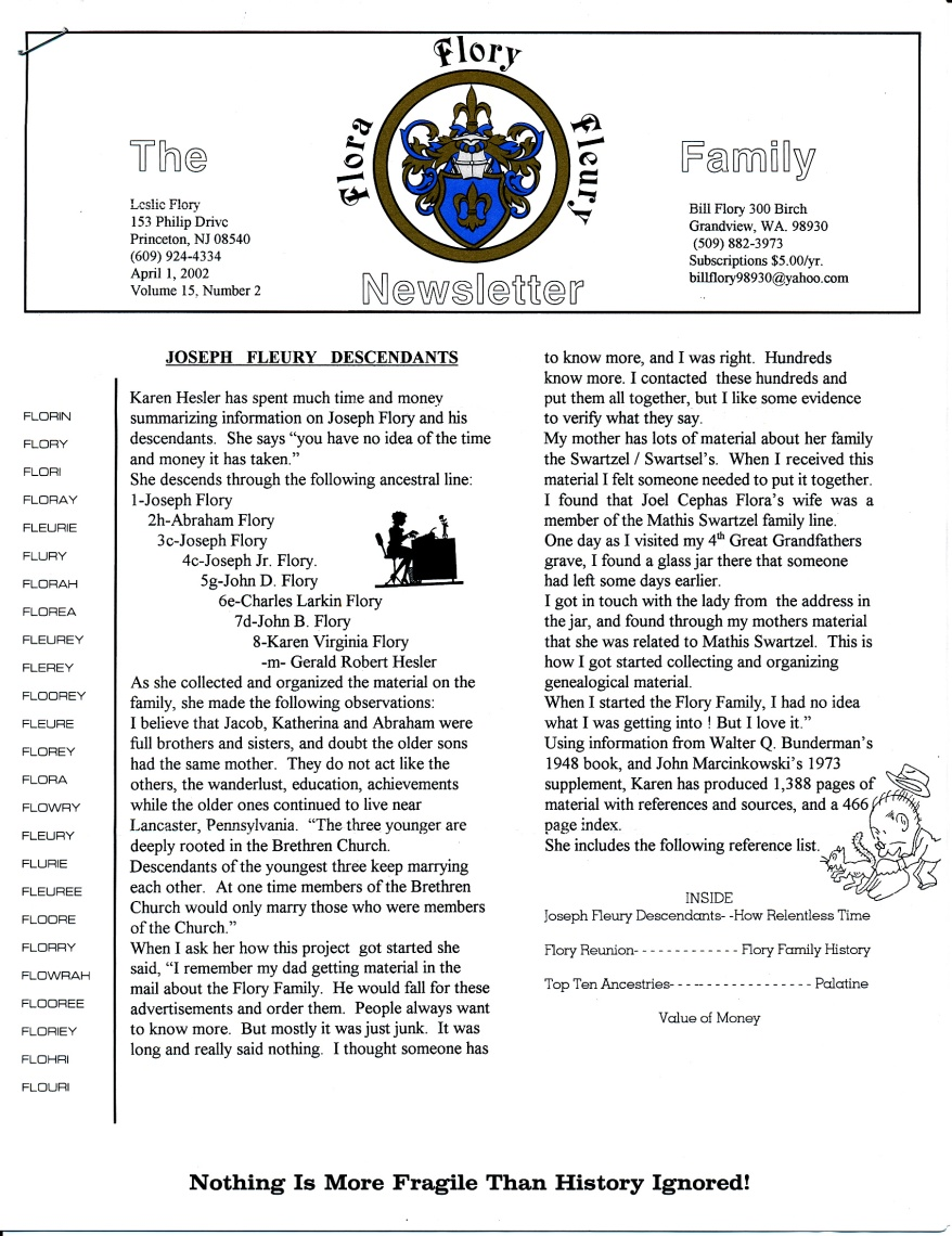 FFF Newsletter  Vol 15, No. 2  April 2002_0001
