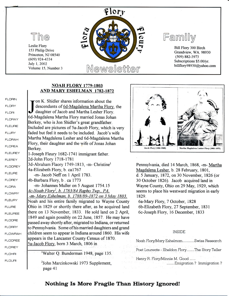 FFF Newsletter  Vol 15, No. 3  July 2002_0001