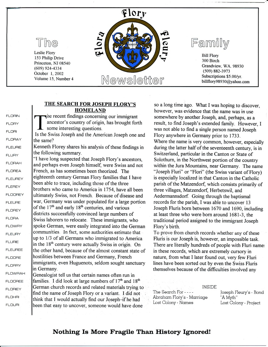 FFF Newsletter  Vol 15, No. 4  October 2002_0001