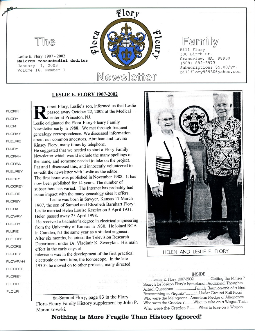 FFF Newsletter  Vol. 16, No. 1  January 2003_0001