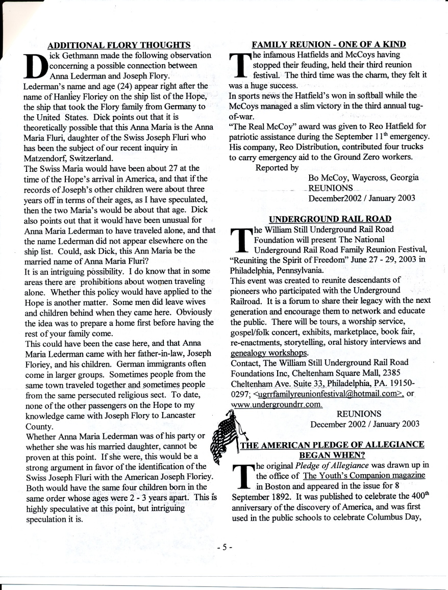 FFF Newsletter  Vol. 16, No. 1  January 2003_0005