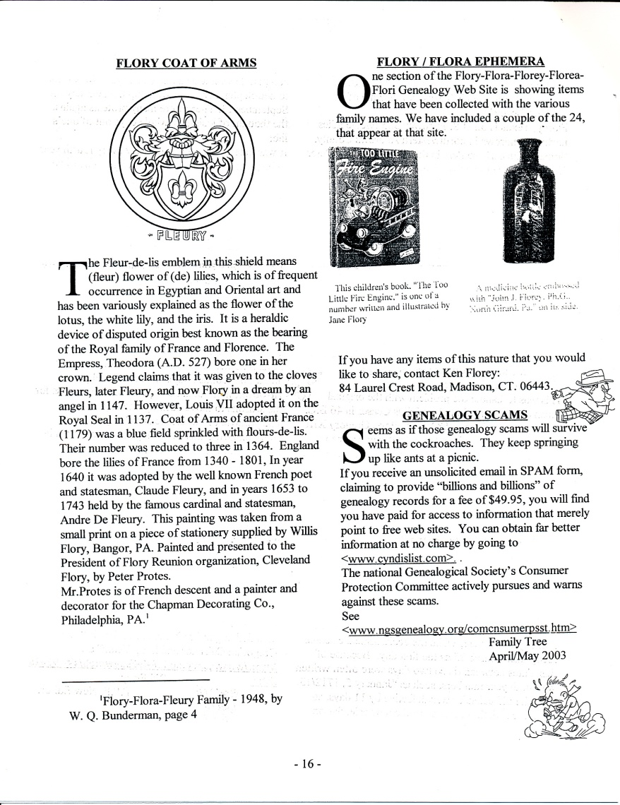 FFF Newsletter  Vol. 16, No. 3   July 2003_0002