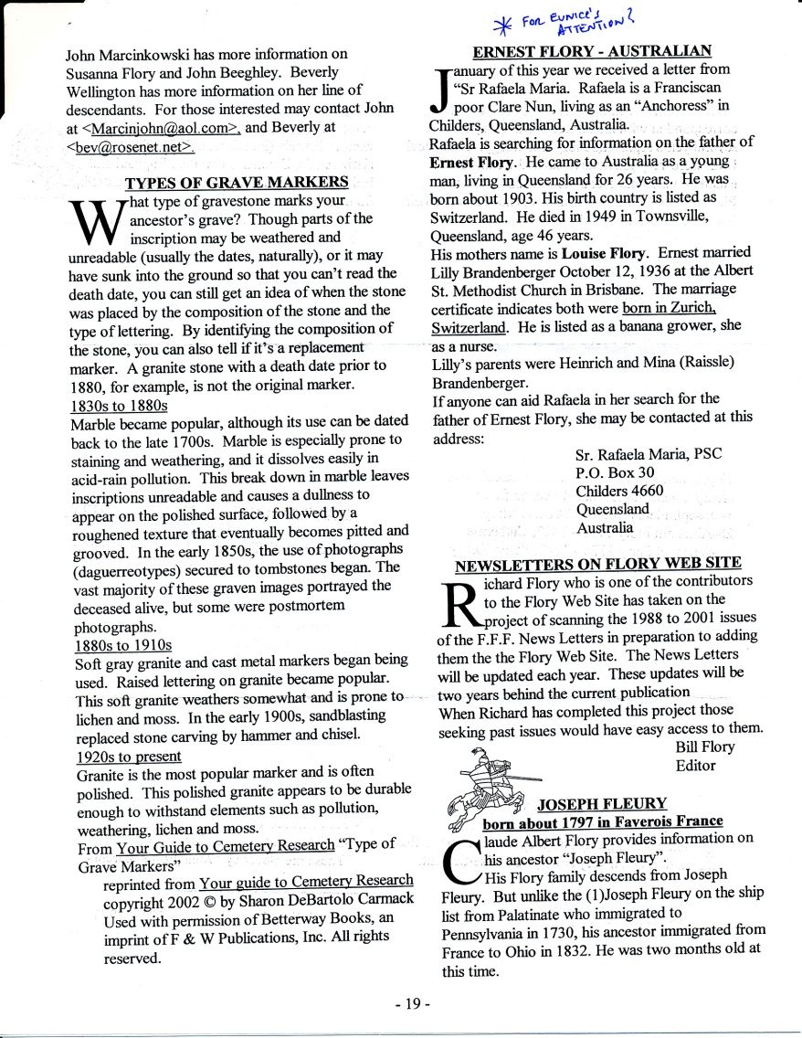 FFF Newsletter  Vol. 16, No. 3   July 2003_0005