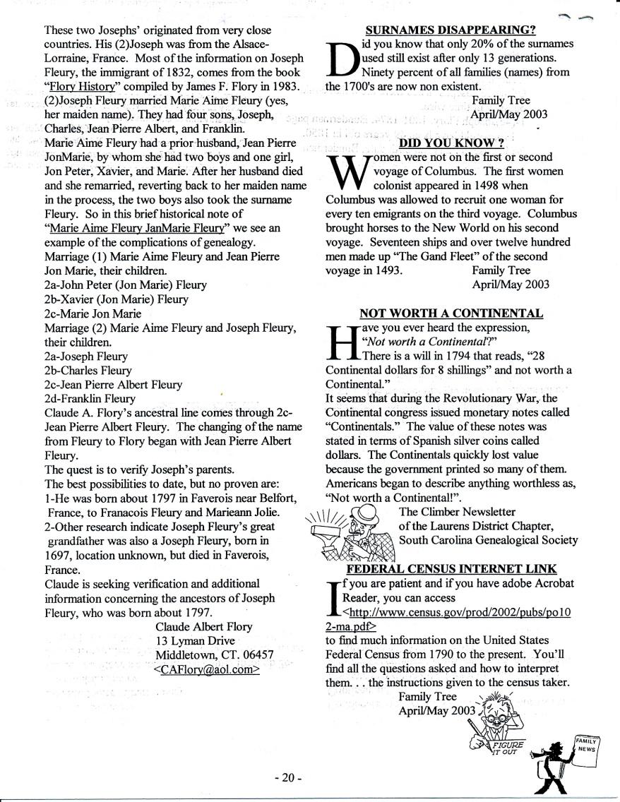 FFF Newsletter  Vol. 16, No. 3   July 2003_0006