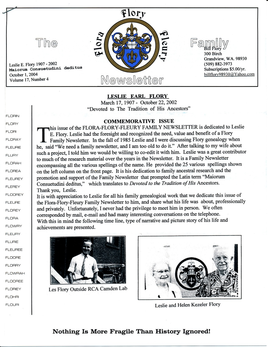 FFF Newsletter  Vol. 17, No. 4   October 2003_0001
