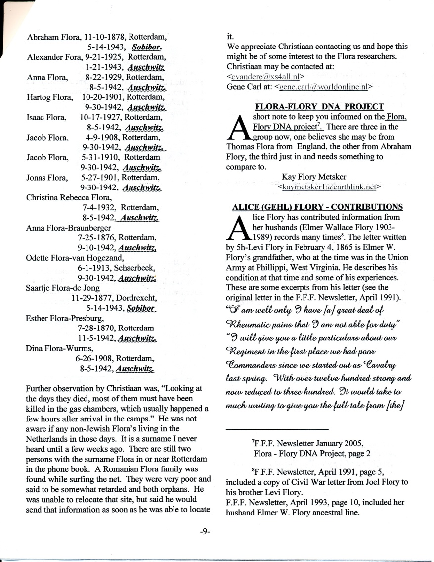 FFF Newsletter Vol. 18, No. 2   April 2005_0003