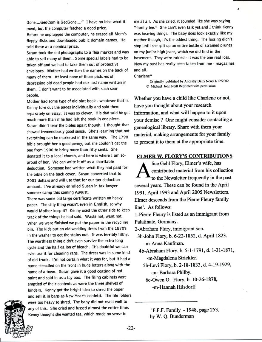 FFF Newsletter Vol. 18, No. 4   October 2005_0002