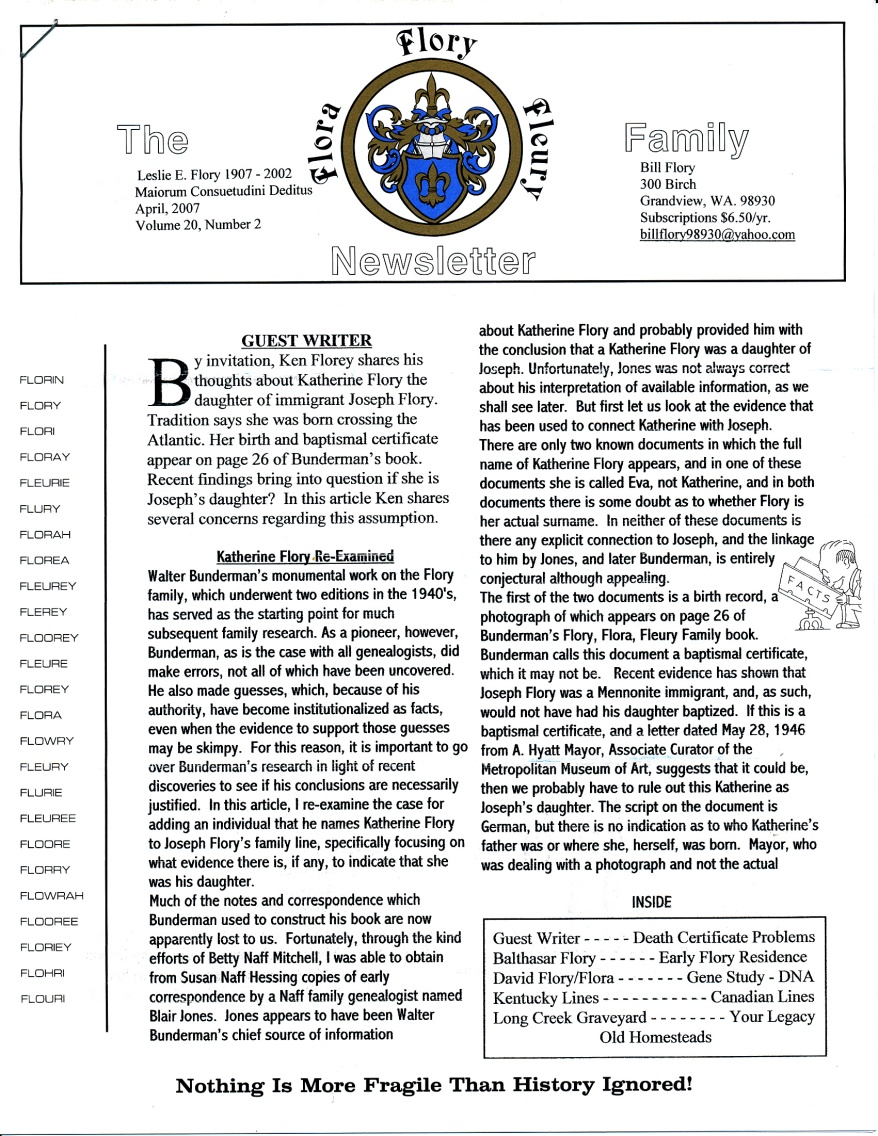 FFF Newsletter Vol. 20, No. 2   April 2007_0001