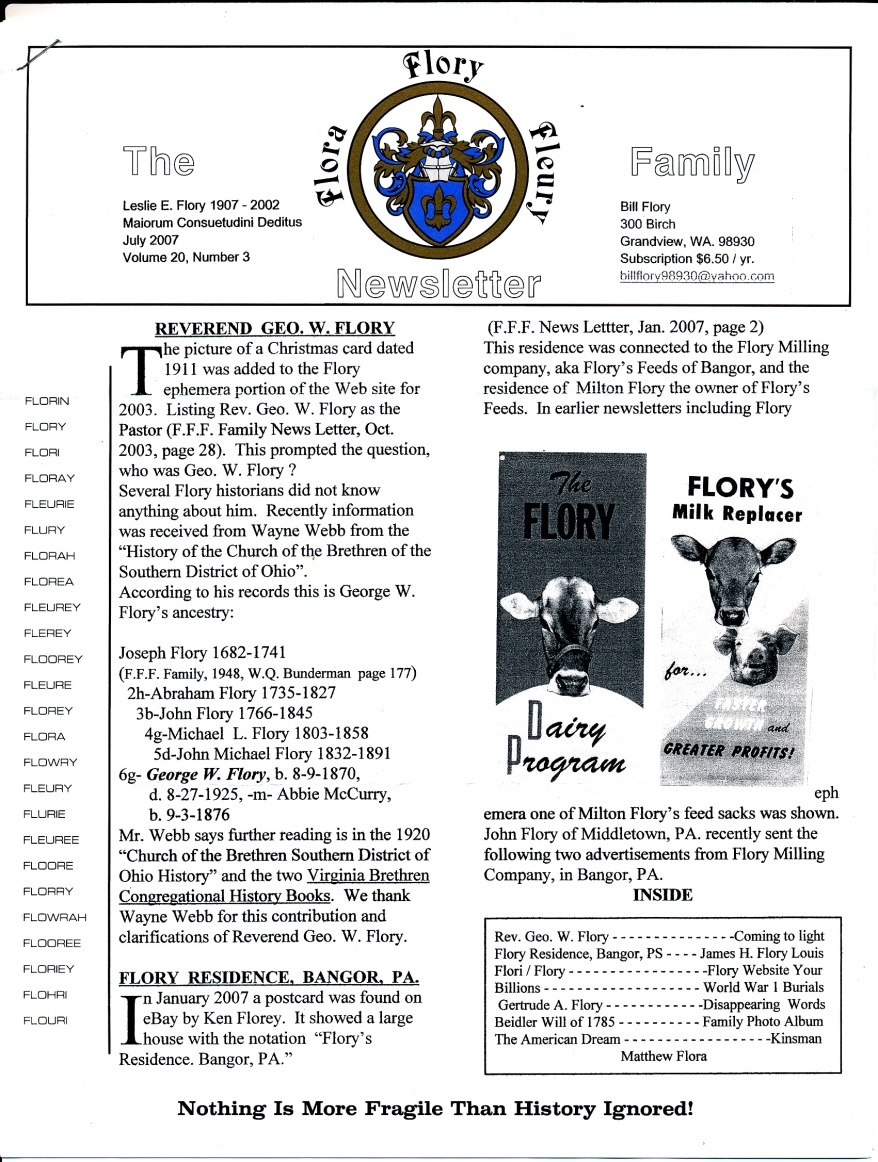FFF Newsletter Vol. 20, No. 3   July 2007_0001