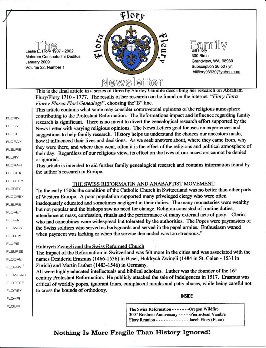 FFF Newsletter Vol. 22, No. 1   January 2009_0001