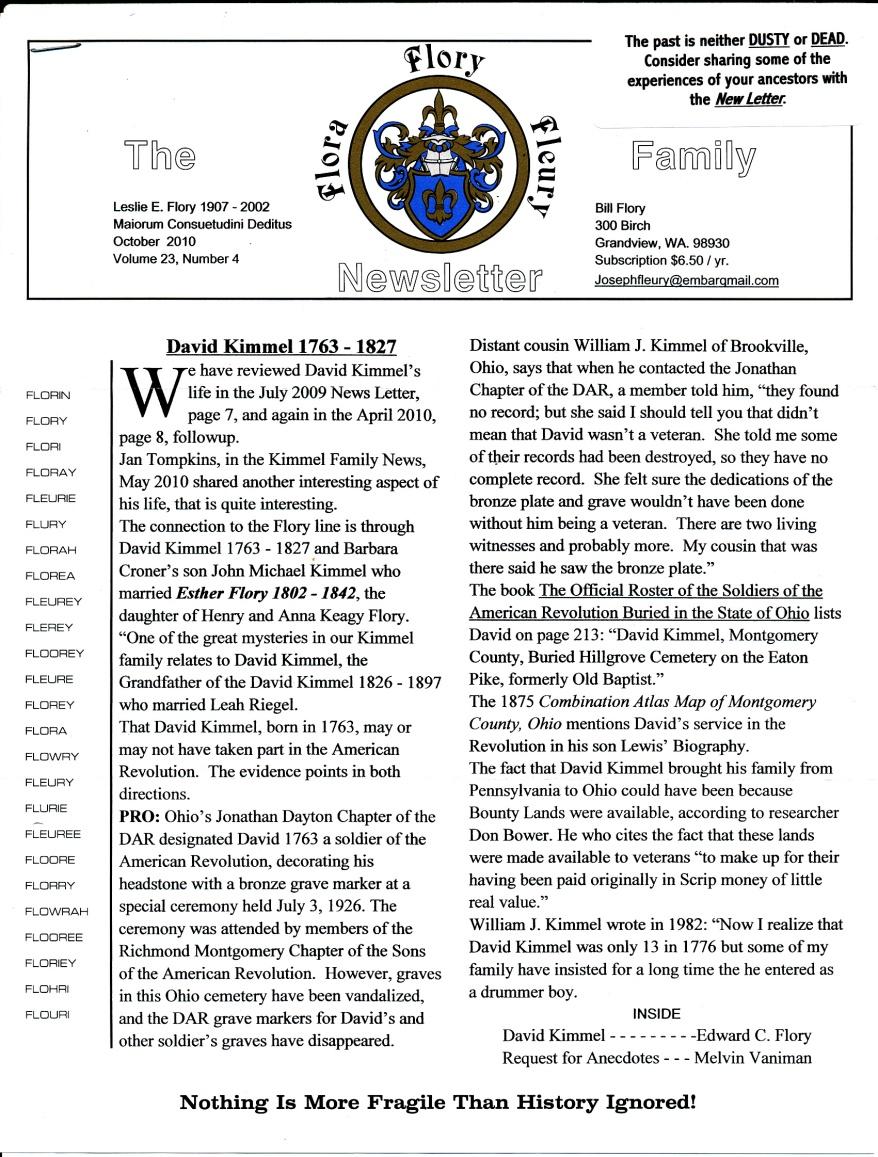 FFF Newsletter Vol. 23, No. 4  October 2010_0001