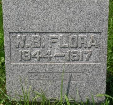 Flora, William B. Tombstone in Paxton, Illinois