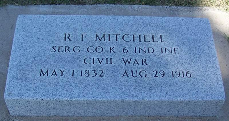 Mitchell, R.F.  Tombstone in Montana