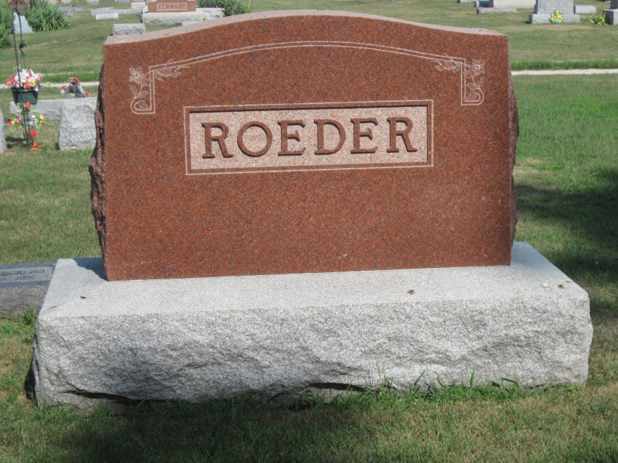 Roeder Family Stone in Roberts, Illinois