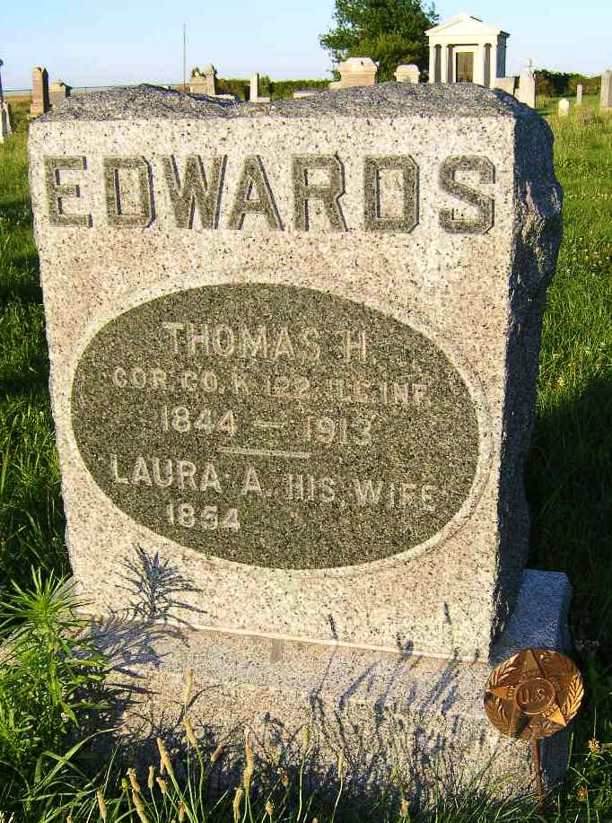Thomas Henry Edwards Tombstone and G.A.R. Marker