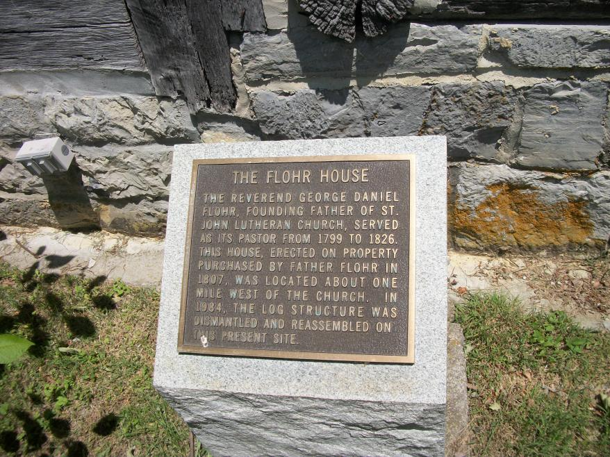 Plaque Outside the Flohr House in Wytheville, Virginia  photo by Mary Miller